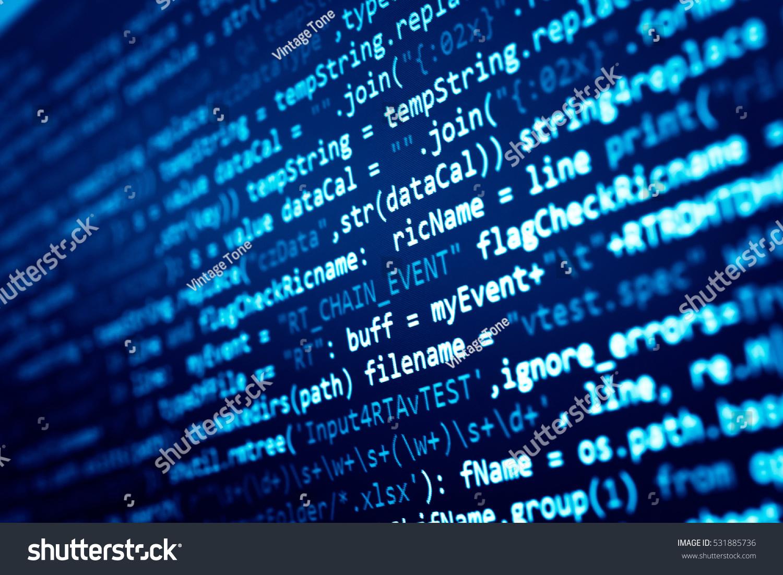 software developer programming code abstract computer の写真素材