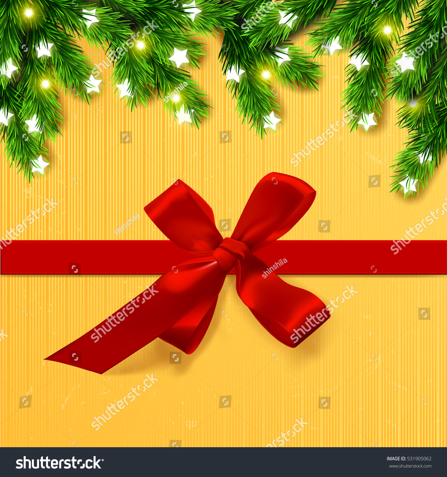 christmas border card design happy new year xmas with red bows and ribbon and glowing