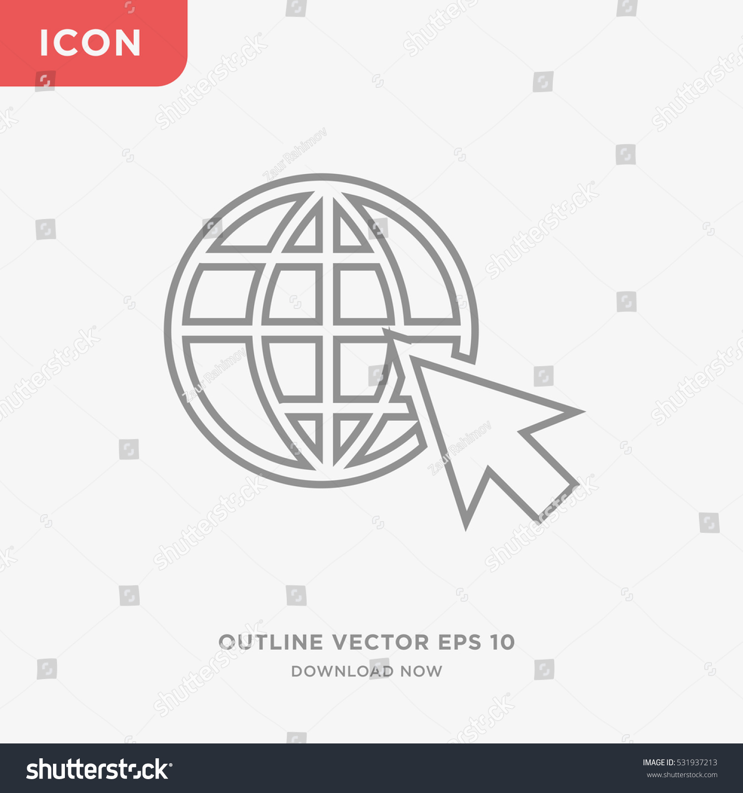 World globe mouse cursive icon illustration stock vector 531937213 world globe and mouse cursive icon illustration isolated vector sign symbol biocorpaavc Image collections