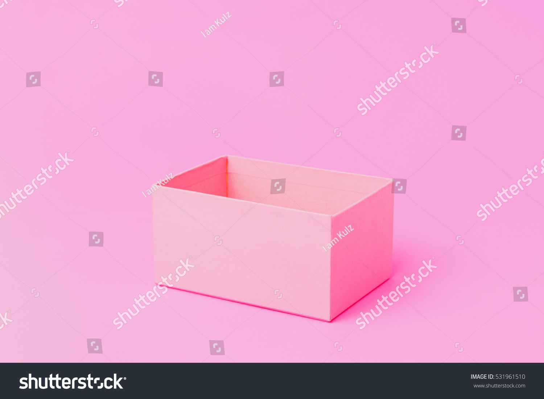 Open empty pink paper box stock photo 531961510 shutterstock open empty pink paper box buycottarizona Gallery