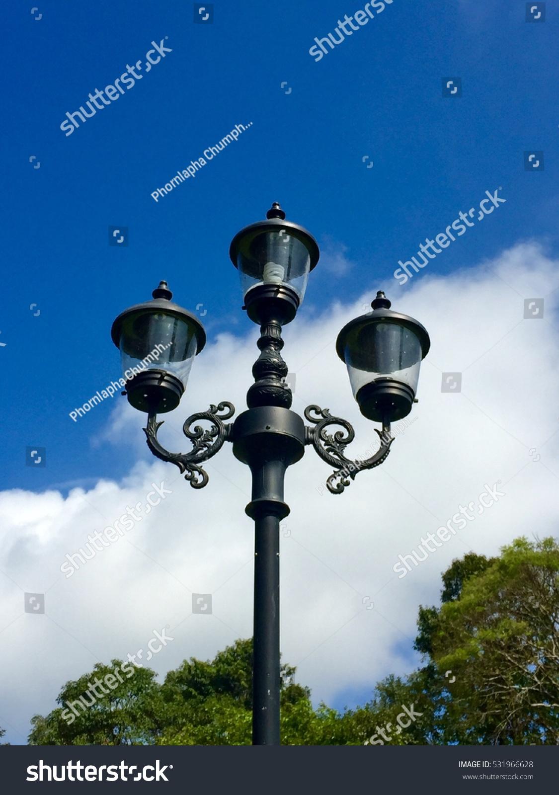 Blake Grounded Center Field Light Poles Stock Photo (Edit Now