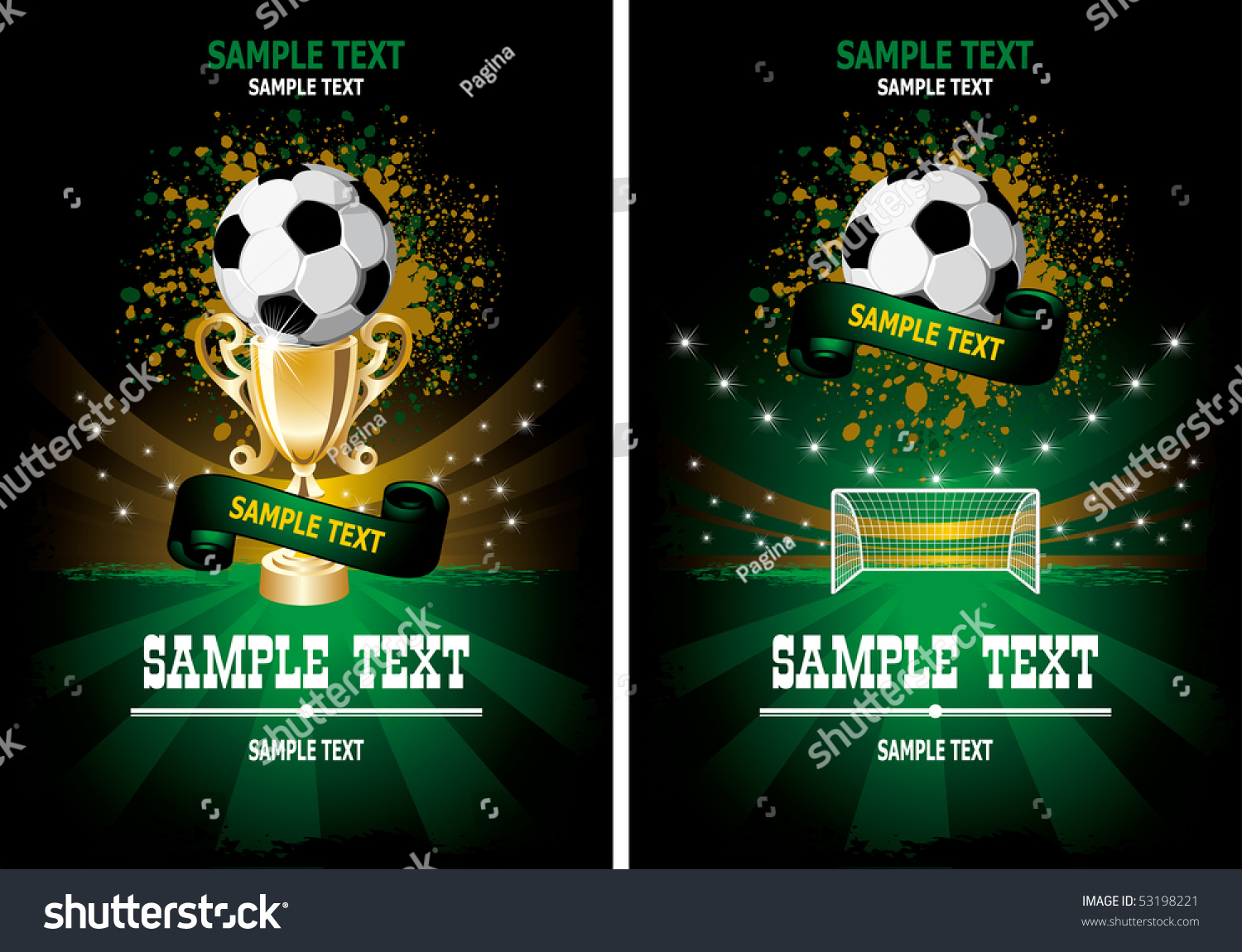 football poster with champion cup and place for your text stock vector illustration 53198221