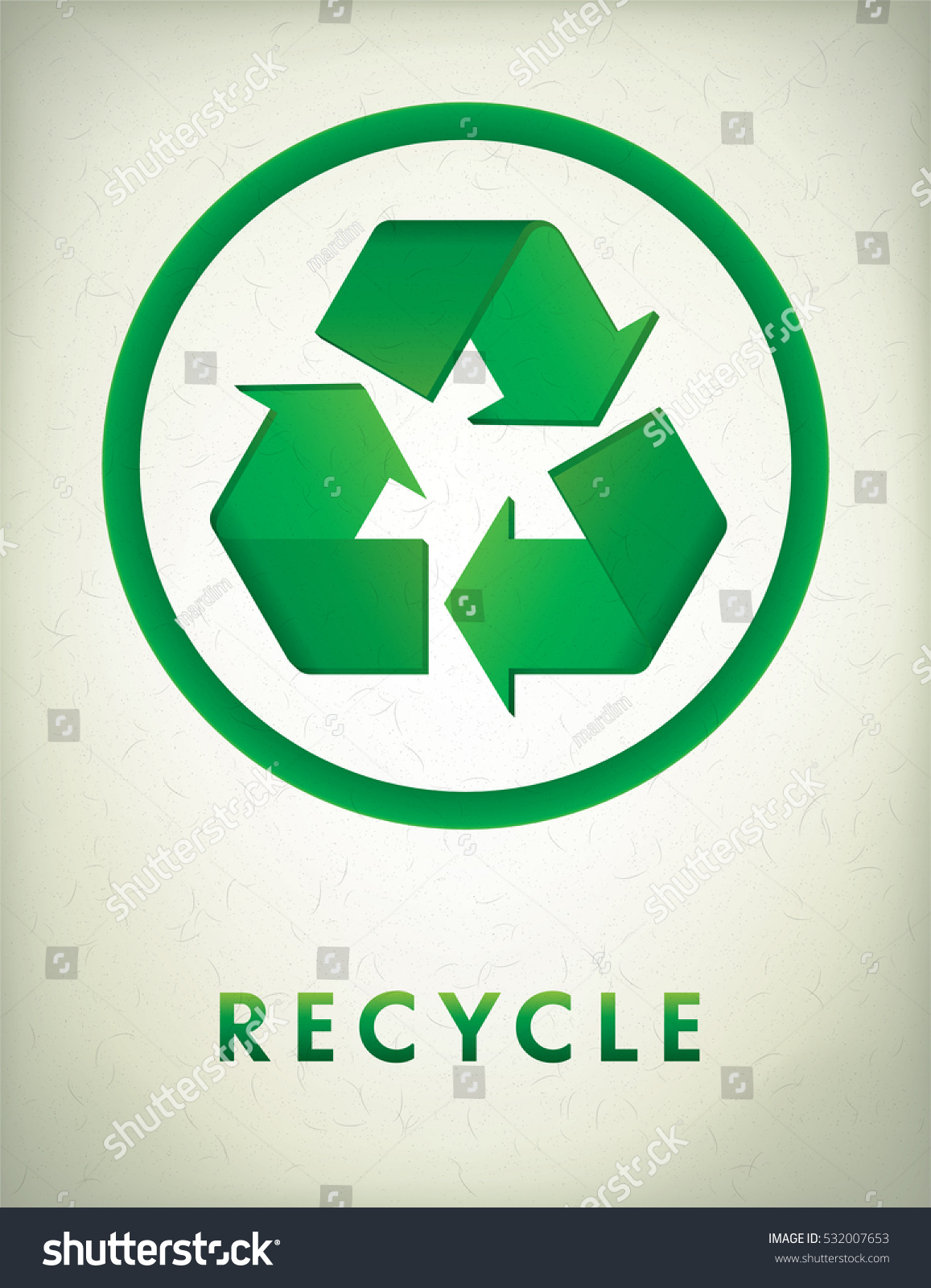 Recycle symbol on recycled paper stock vector 532007653 shutterstock recycle symbol on recycled paper buycottarizona
