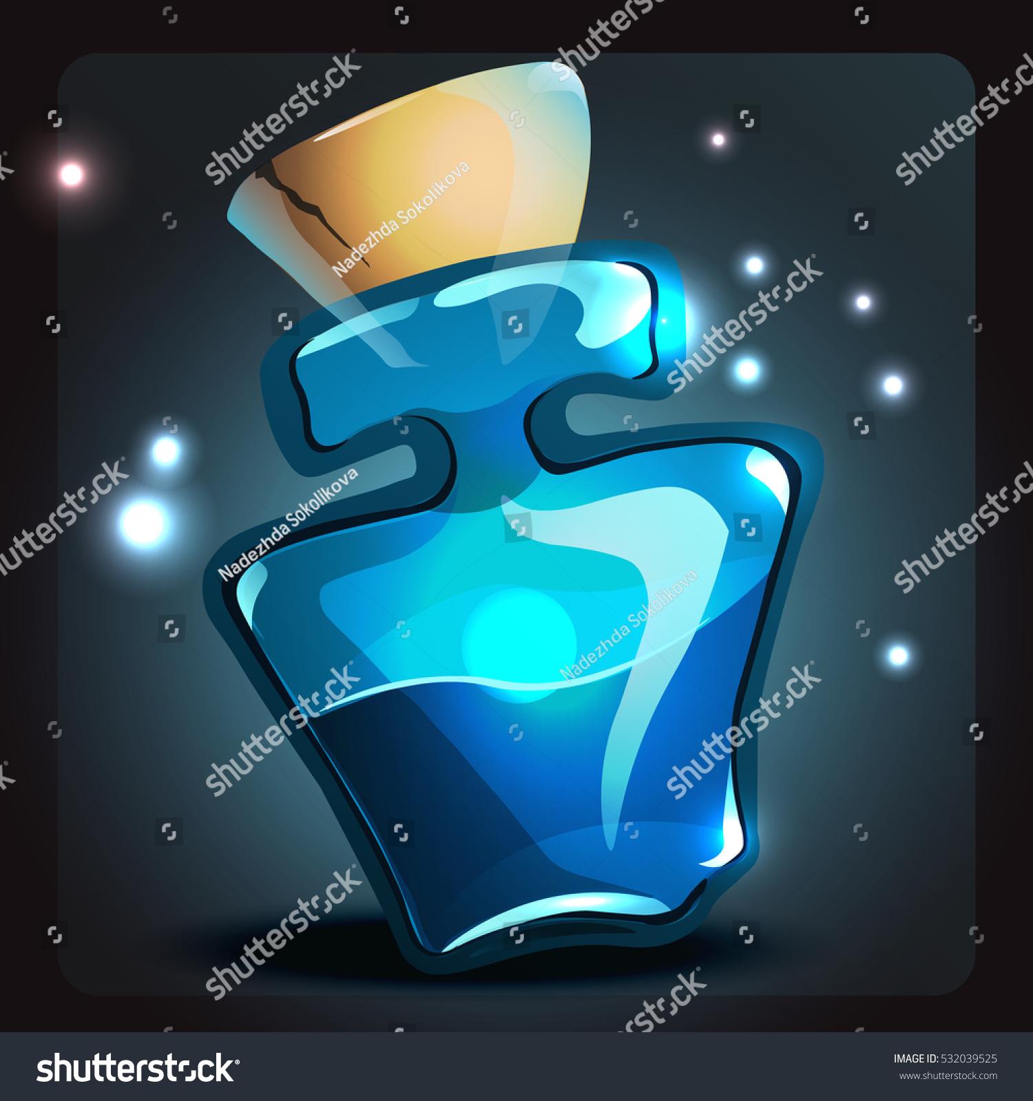 Blue mana potion stock vector 532039525 shutterstock blue mana potion biocorpaavc
