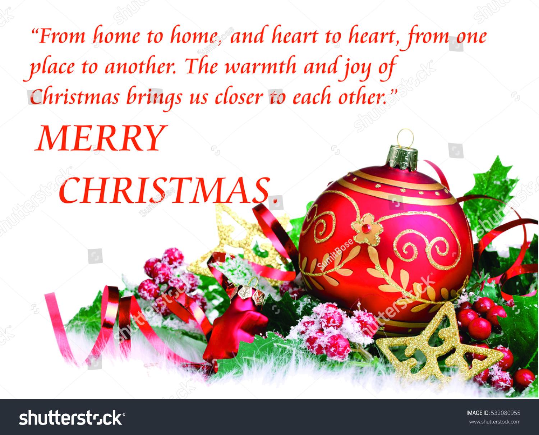 Merry Christmas Quotes Illustration Stock Illustration 532080955 ...