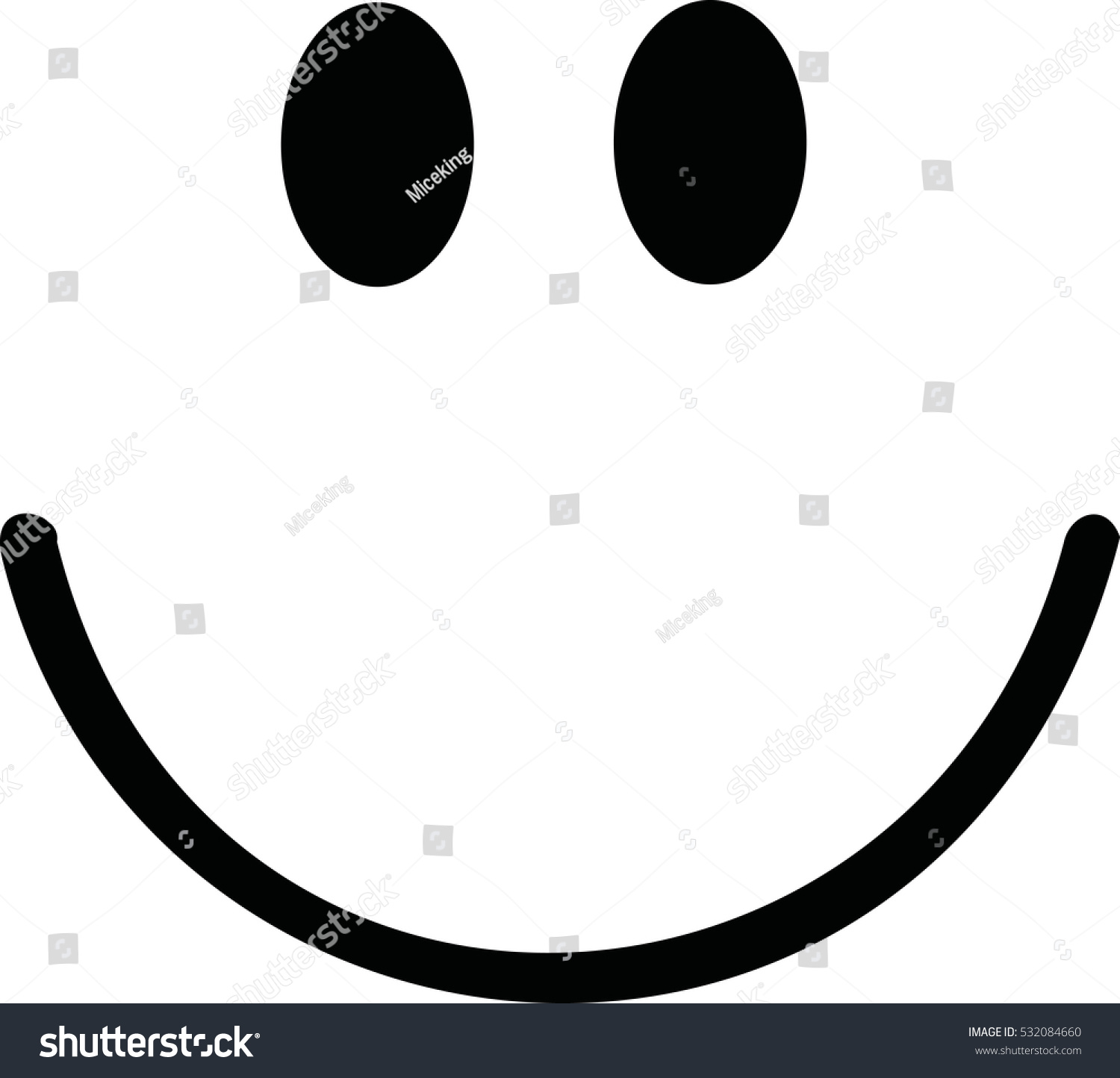 Smiley With Big Smile Stock Vector Illustration 532084660