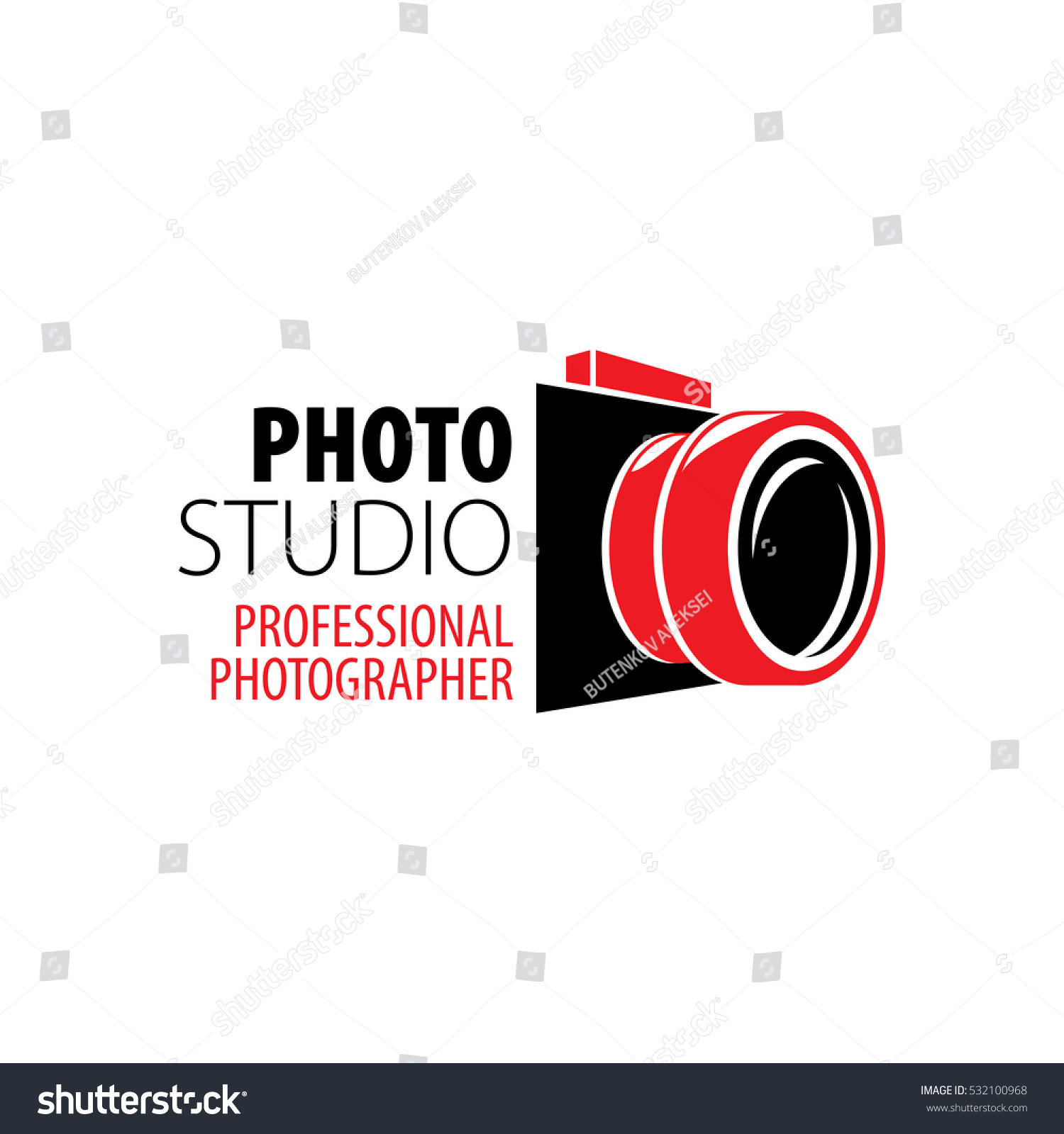 Photographer Camera Logo Stock Vector Royalty Free 532100968