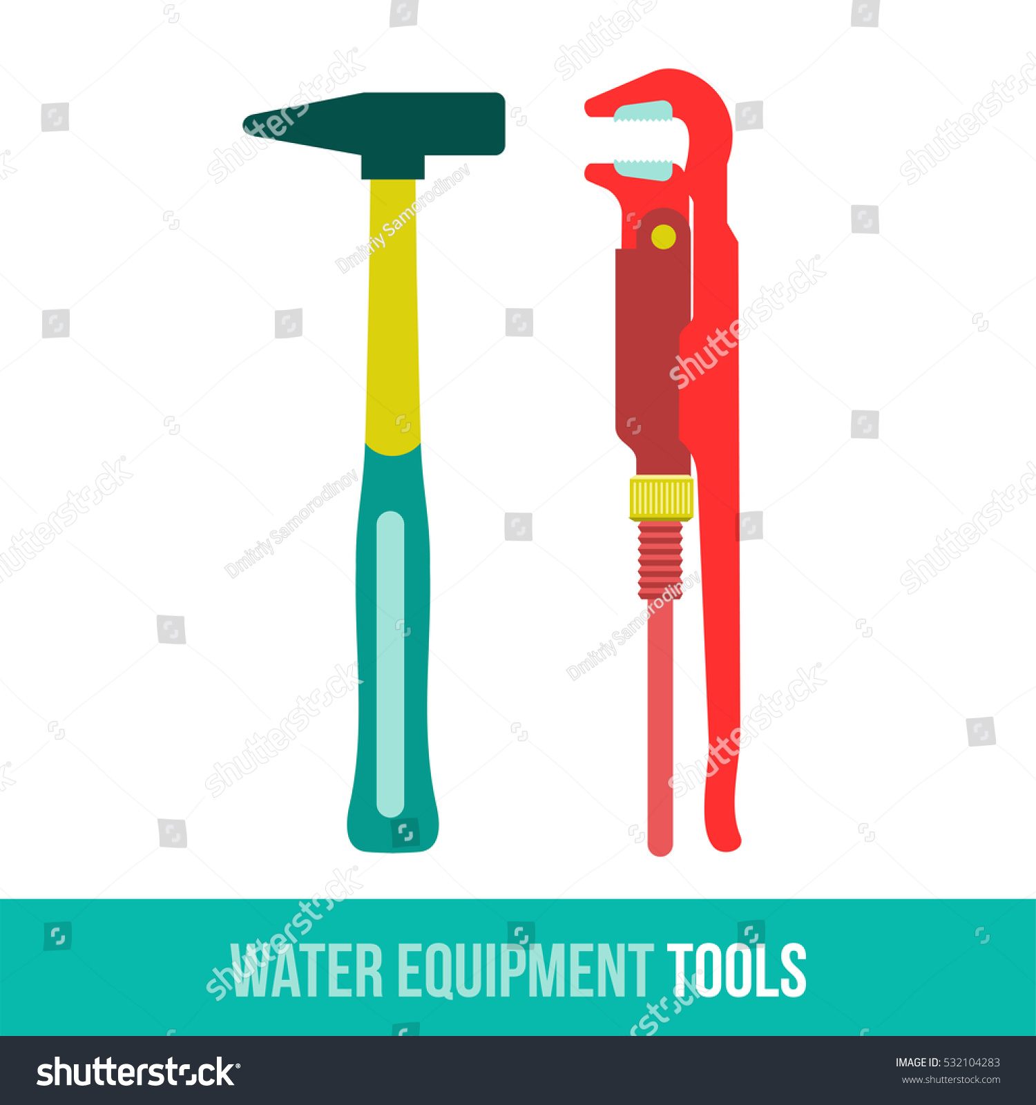 Flat Icon Water Equipment Kitchen Bathroom Stock Illustration ...