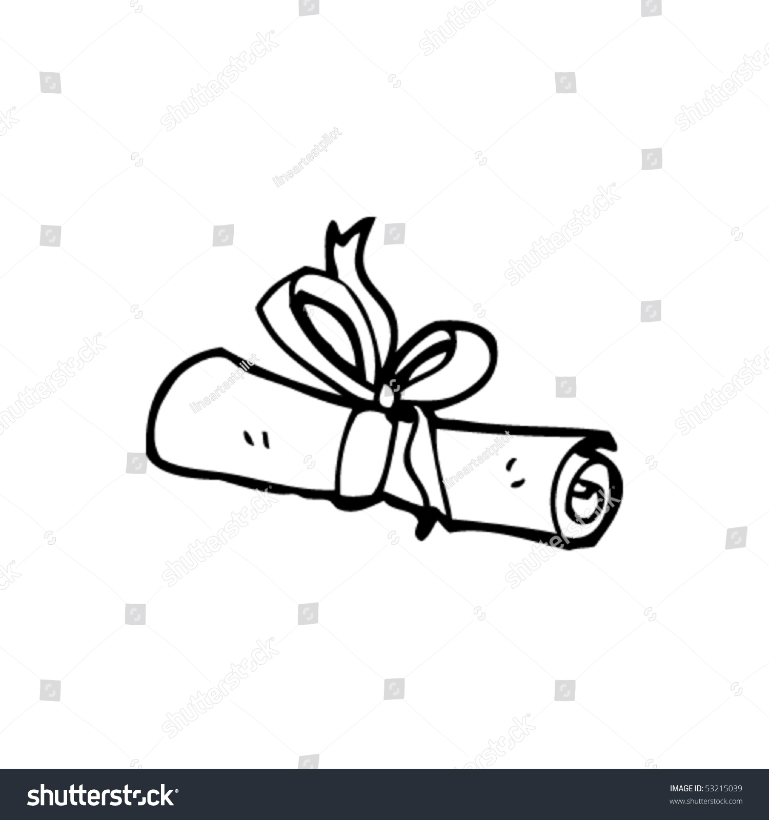 Diploma Drawing Stock Vector 53215039 : Shutterstock