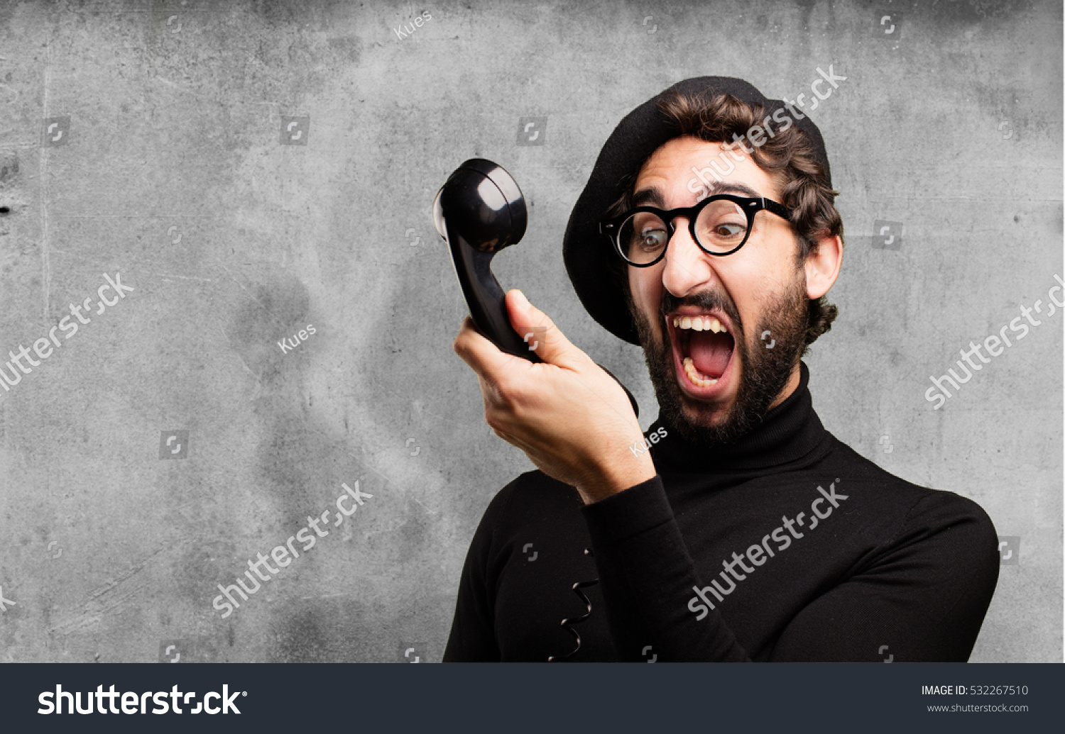 Young French Artist Vintage Phone Stock Photo (Edit Now ...