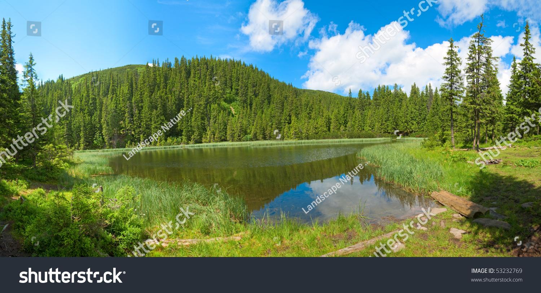sky blue mountain reflection - photo #26