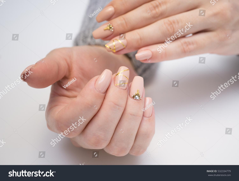 Natural Nails Gel Polish Perfect Clean Stock Photo 532334779 ...
