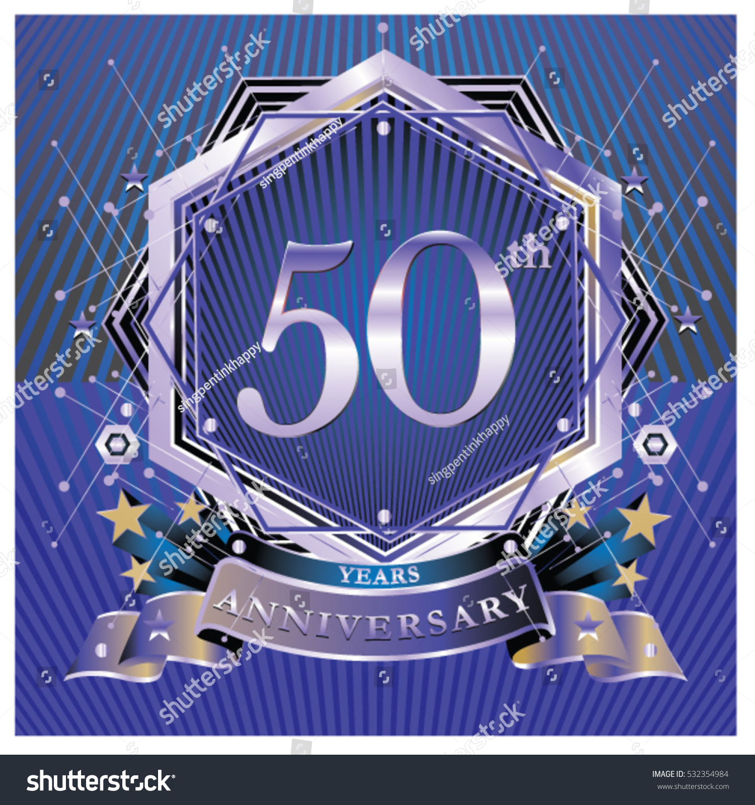 50 years anniversary logo celebration ring stock vector 532354984 50 years anniversary logo celebration with ring and ribbon symbol and template for greeting card buycottarizona Choice Image