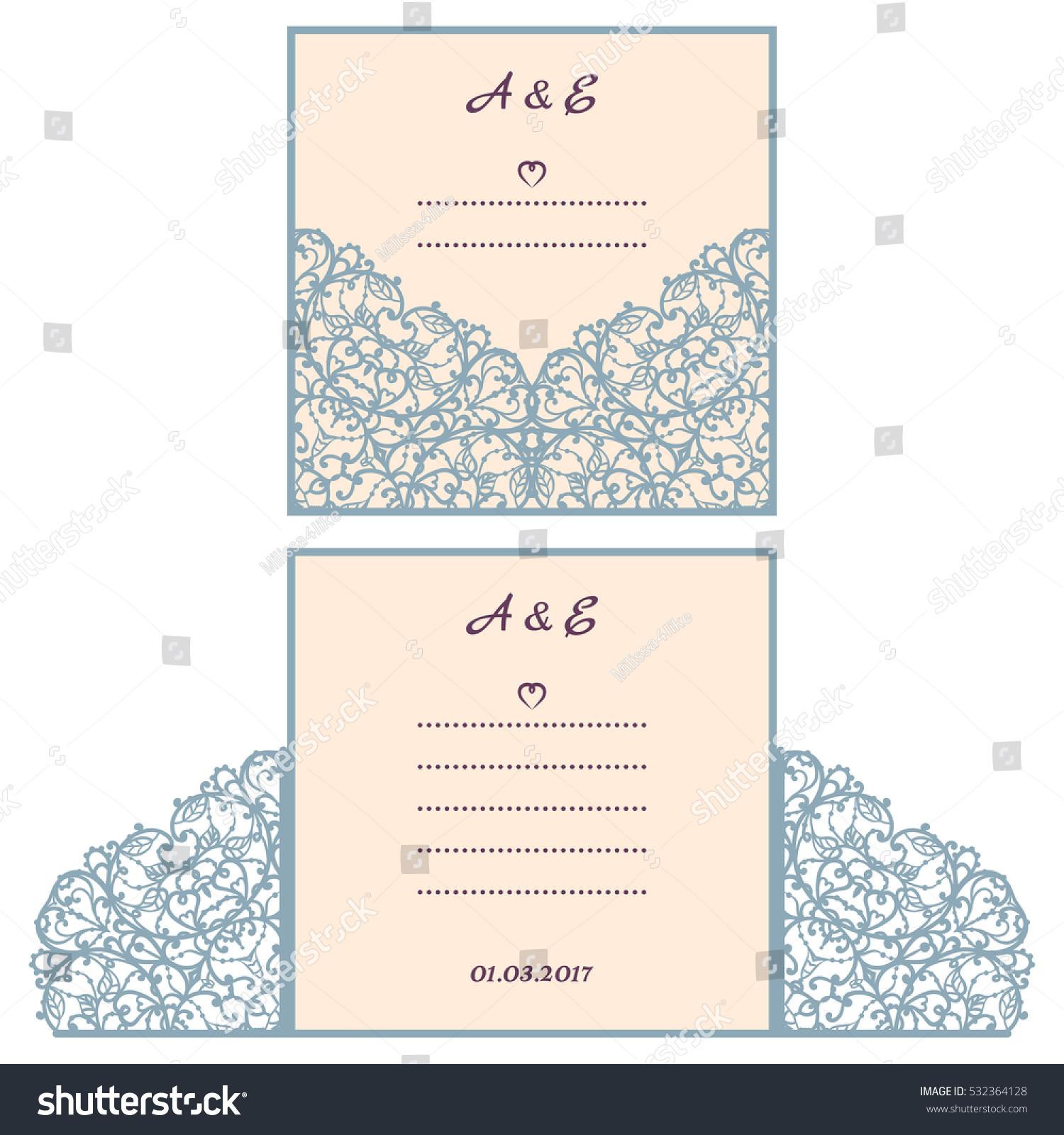 Wedding Invitation Greeting Card Abstract Ornament Stock Vector ...