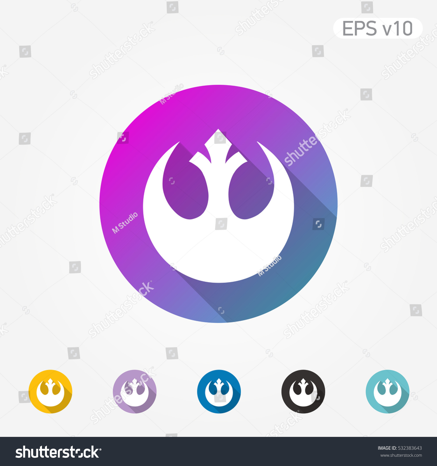 Colored icon star wars symbol shadow stock vector 532383643 colored icon of star wars symbol with shadow biocorpaavc Images