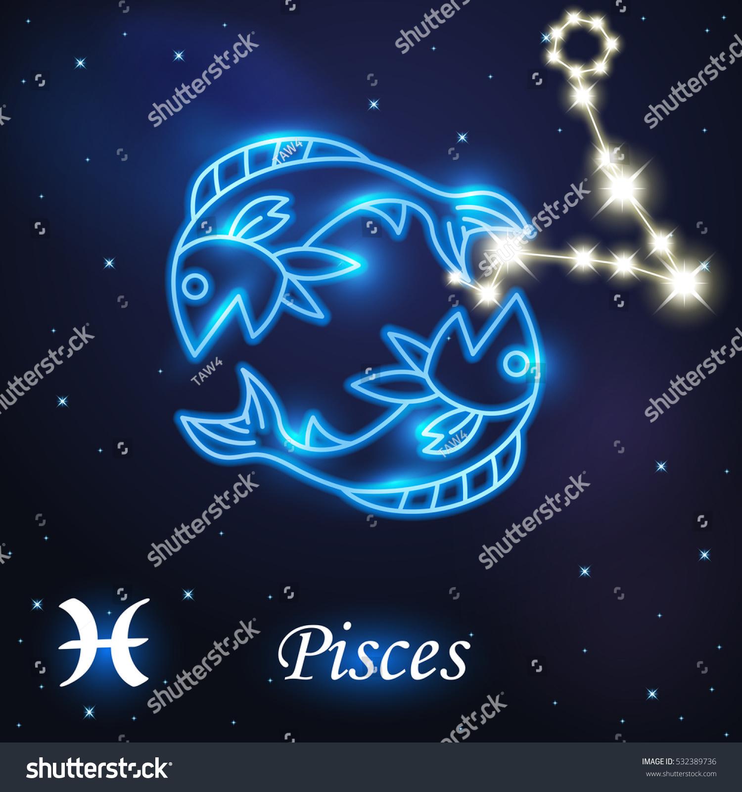 Light Symbol Fish Pisces Zodiac Horoscope 532389736