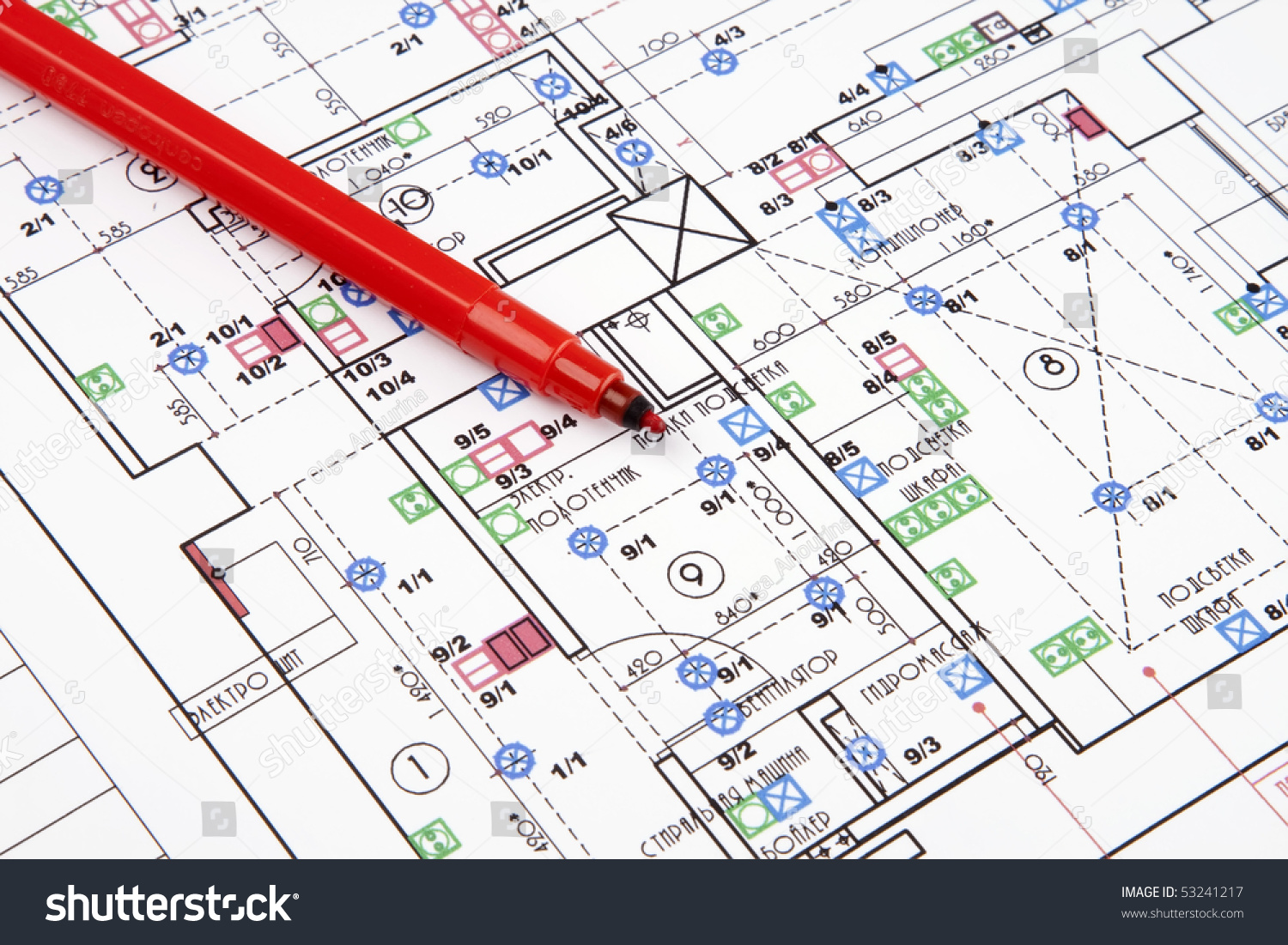 Electrical drawing house stock photo royalty free 53241217 electrical drawing of house ccuart Gallery
