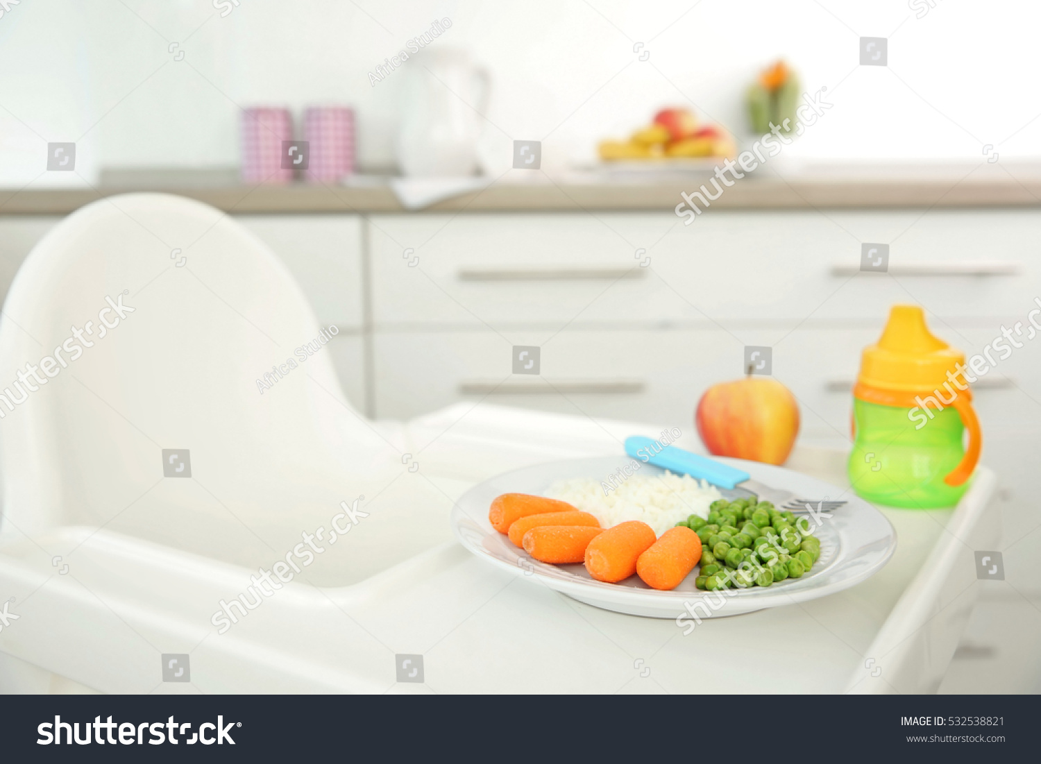 highchair healthy baby food home child 532538821 shutterstock. Black Bedroom Furniture Sets. Home Design Ideas