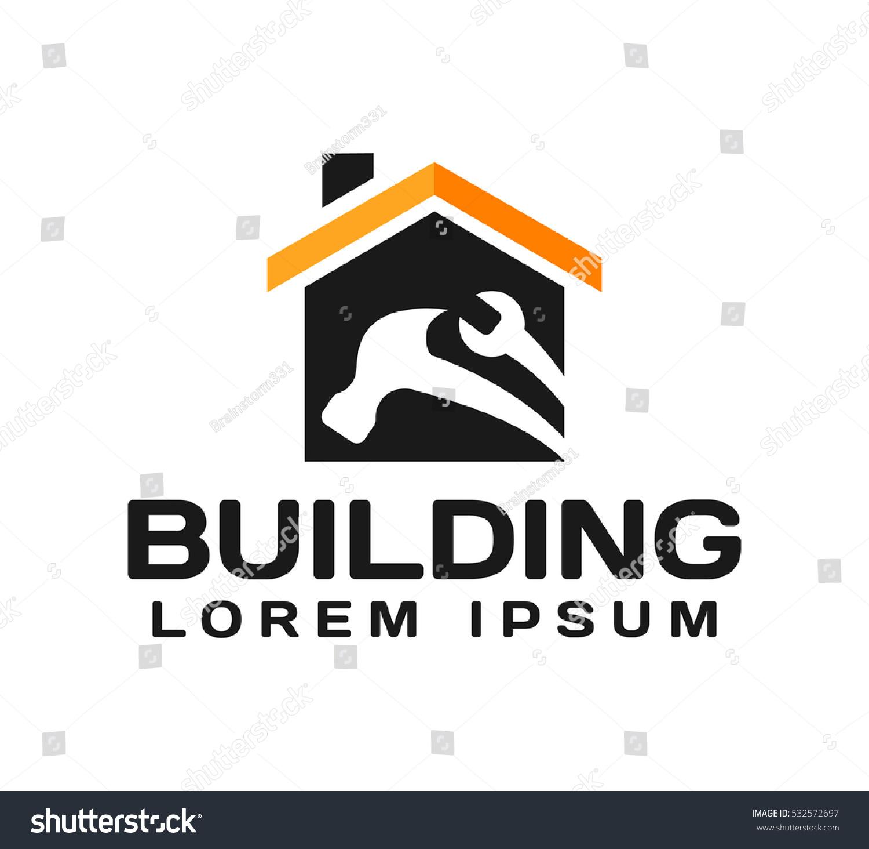 House Real Estate Construction Building Logo Stock Photo (Photo ...