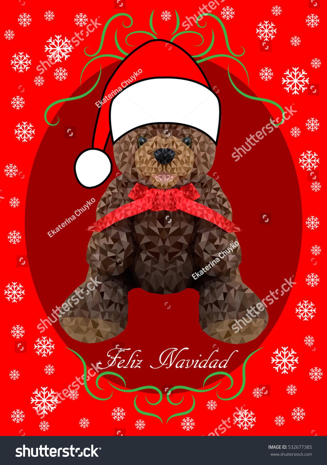 Feliz navidad vector merry christmas card stock vector 532677385 vector merry christmas card template with greetings in spanish kristyandbryce Images