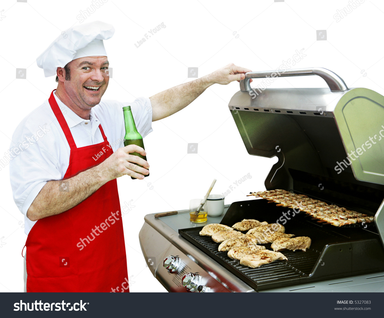 Happy Smiling Cook Making Dinner On Stock Photo 5327083 - Shutterstock