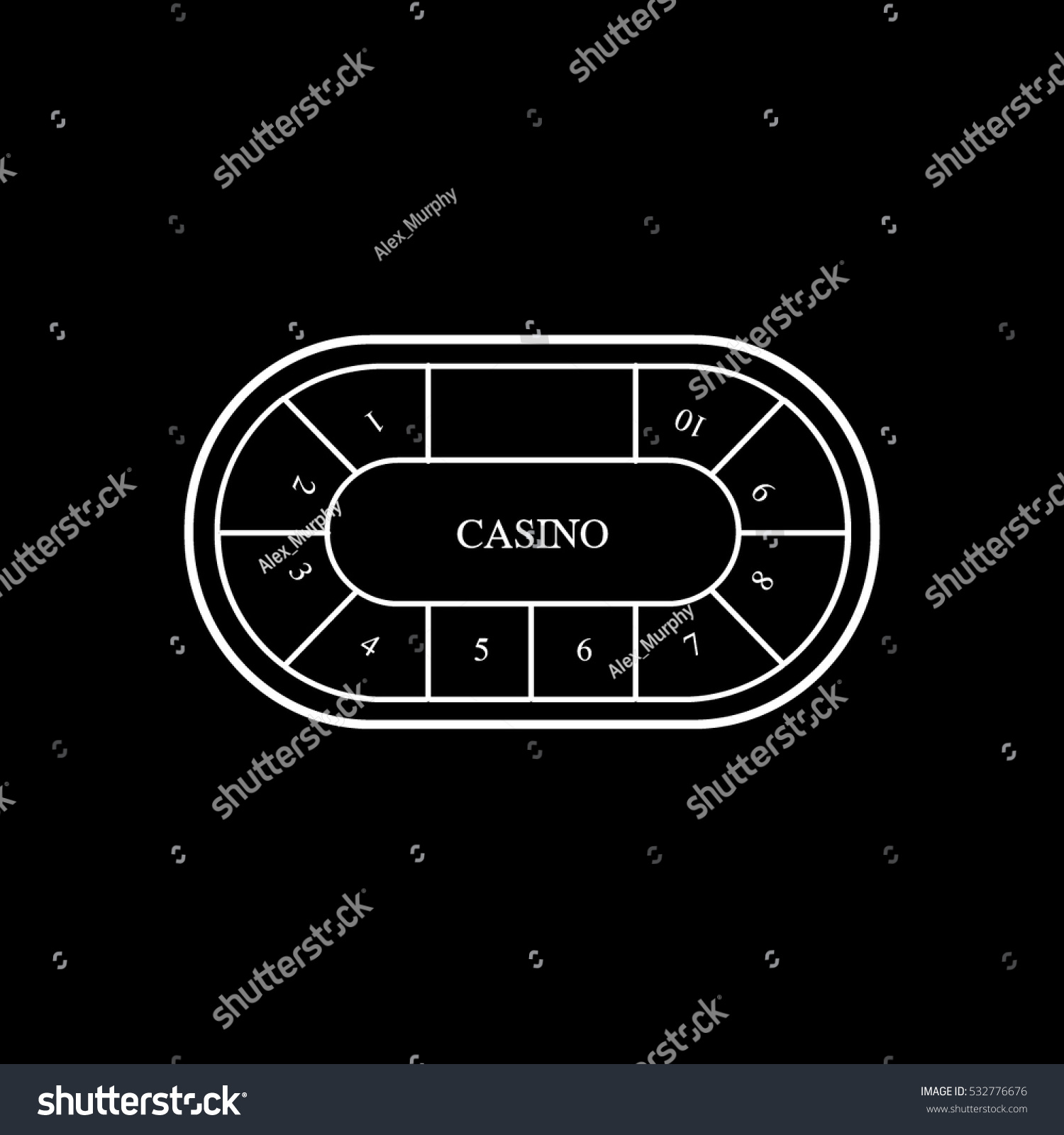 casino table games icon