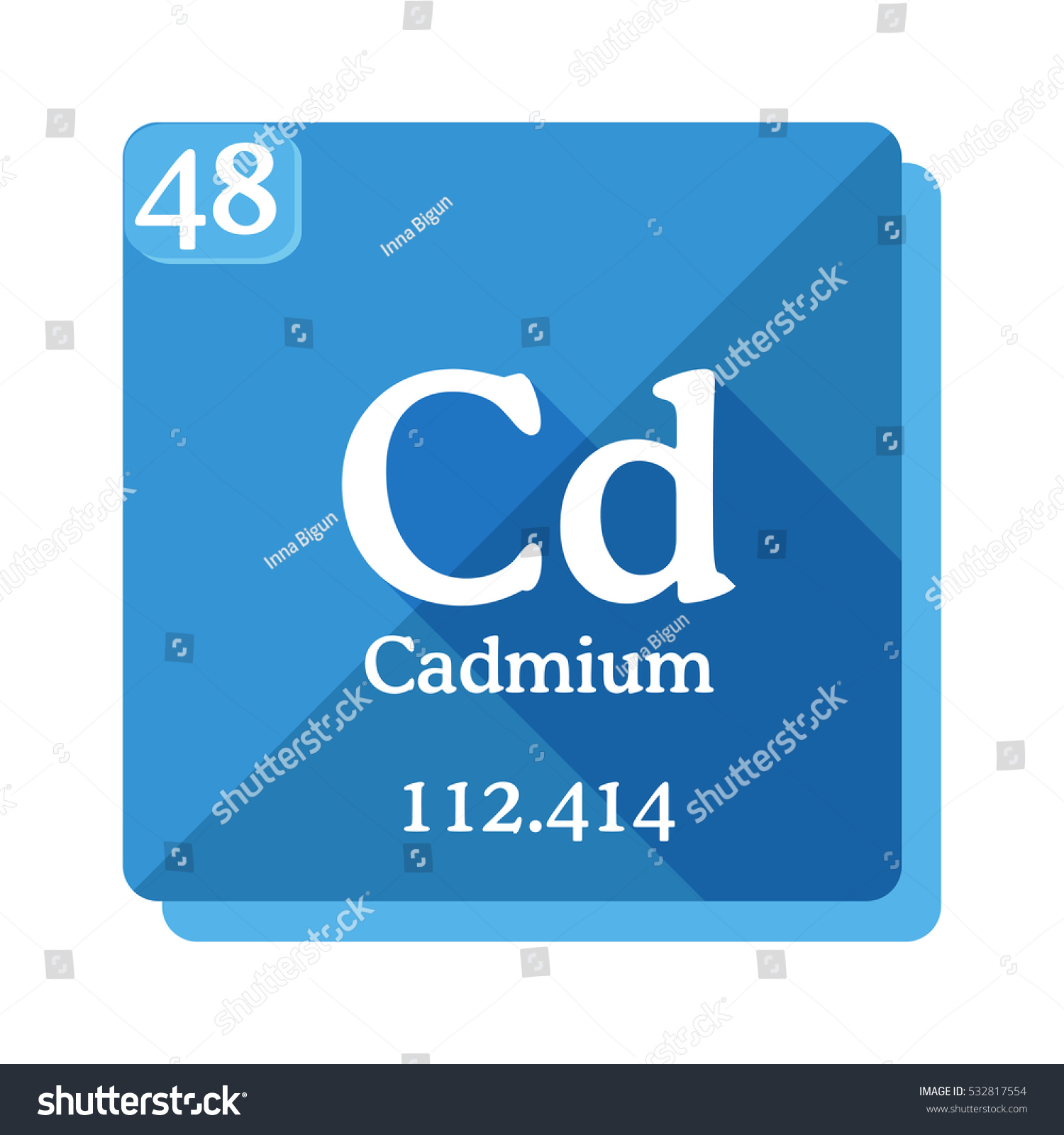 Cadmium Cd Element Periodic Table Flat Stock Vector ...