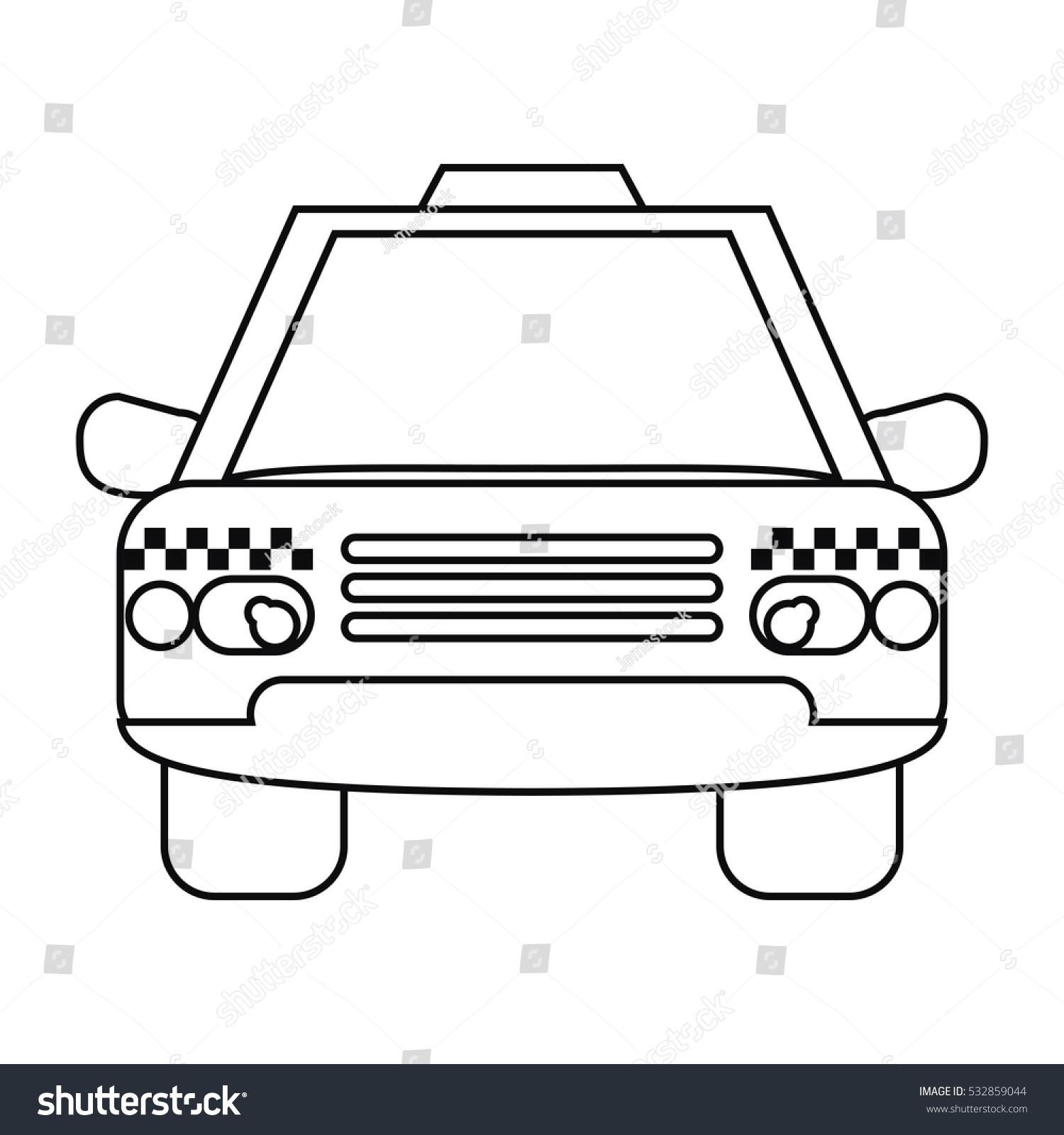 taxi cab car public transport outline stock vector 532859044