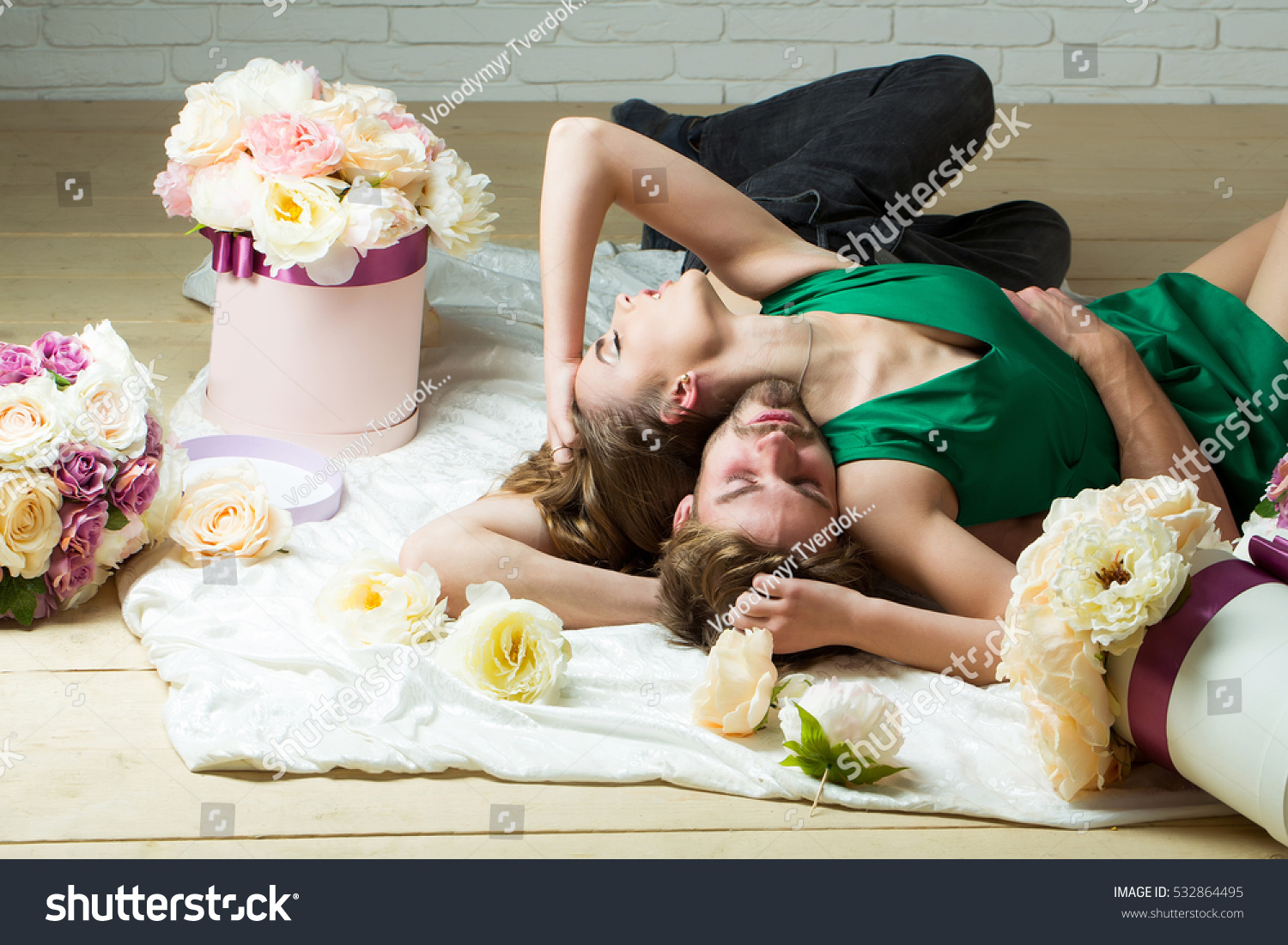 Sexy Couple Young Beautiful Cute Lovers Stock Photo -7233