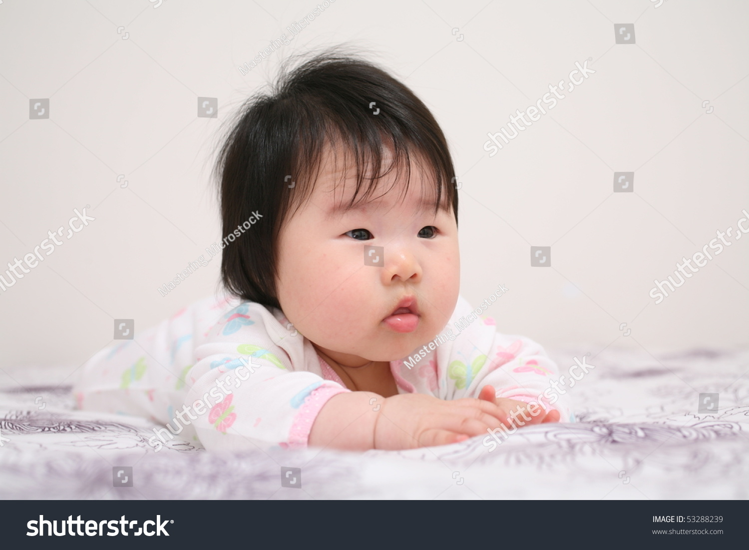 very cute asian baby infant girl stock photo (safe to use) 53288239