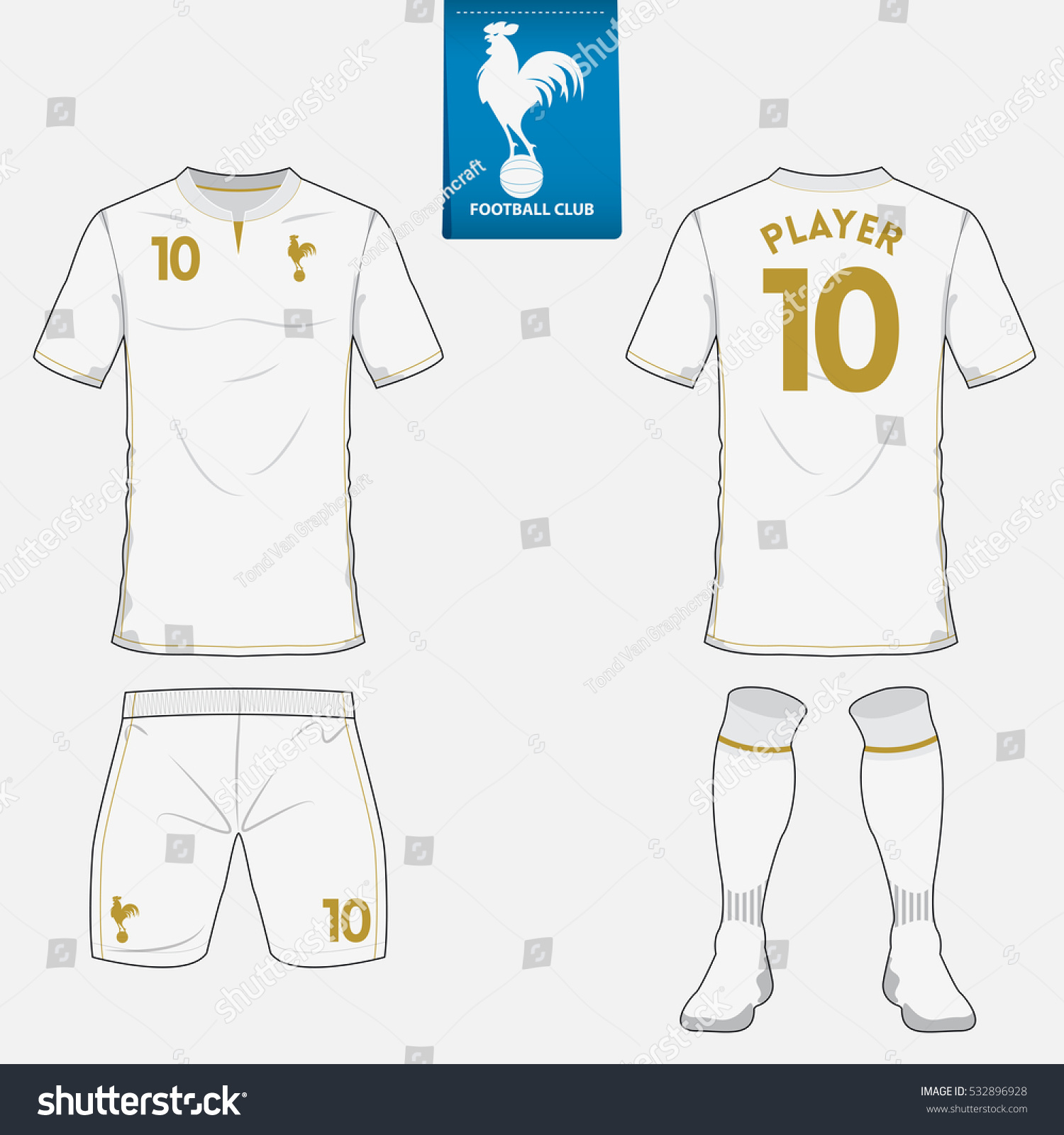 Set of soccer jersey or football kit template for football club. Flat  football logo on 2f6aee1b0