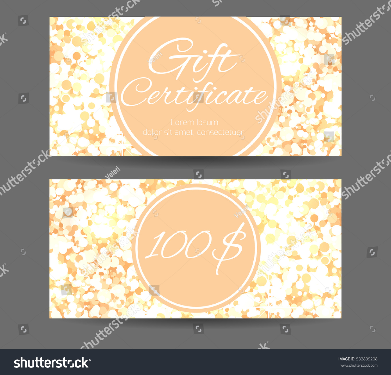 Luxury template gift certificate yoga studio stock vector luxury template gift certificate for yoga studio spa center massage parlor beauty salon yadclub Images