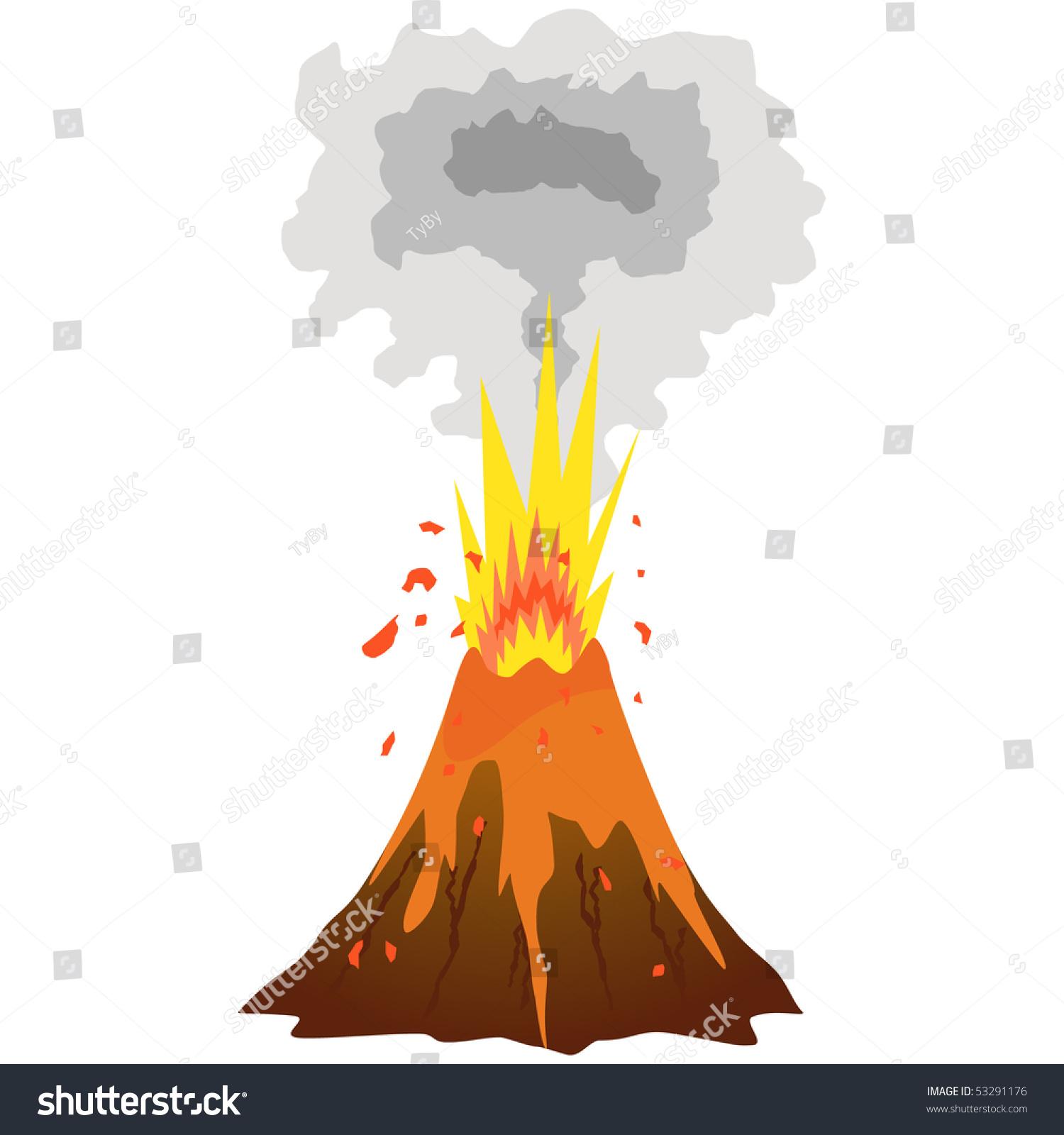 free clipart volcano erupting - photo #47