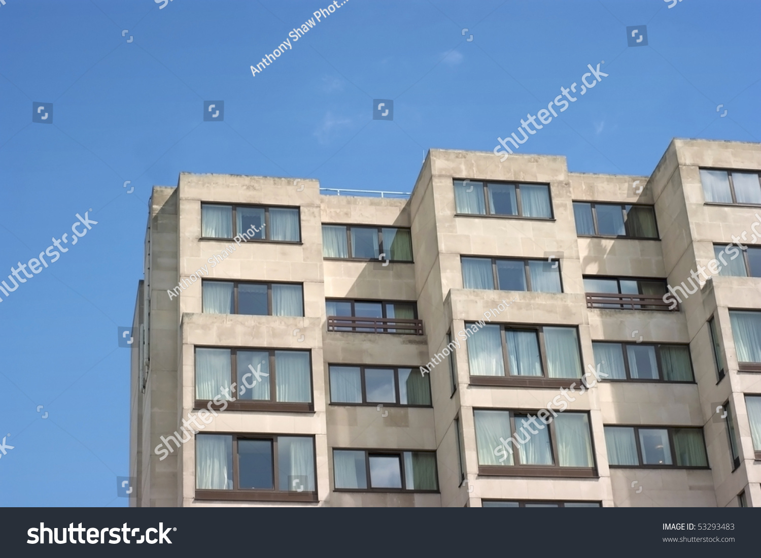 Ugly exterior of apartment hotel in london stock photo for London appart hotel