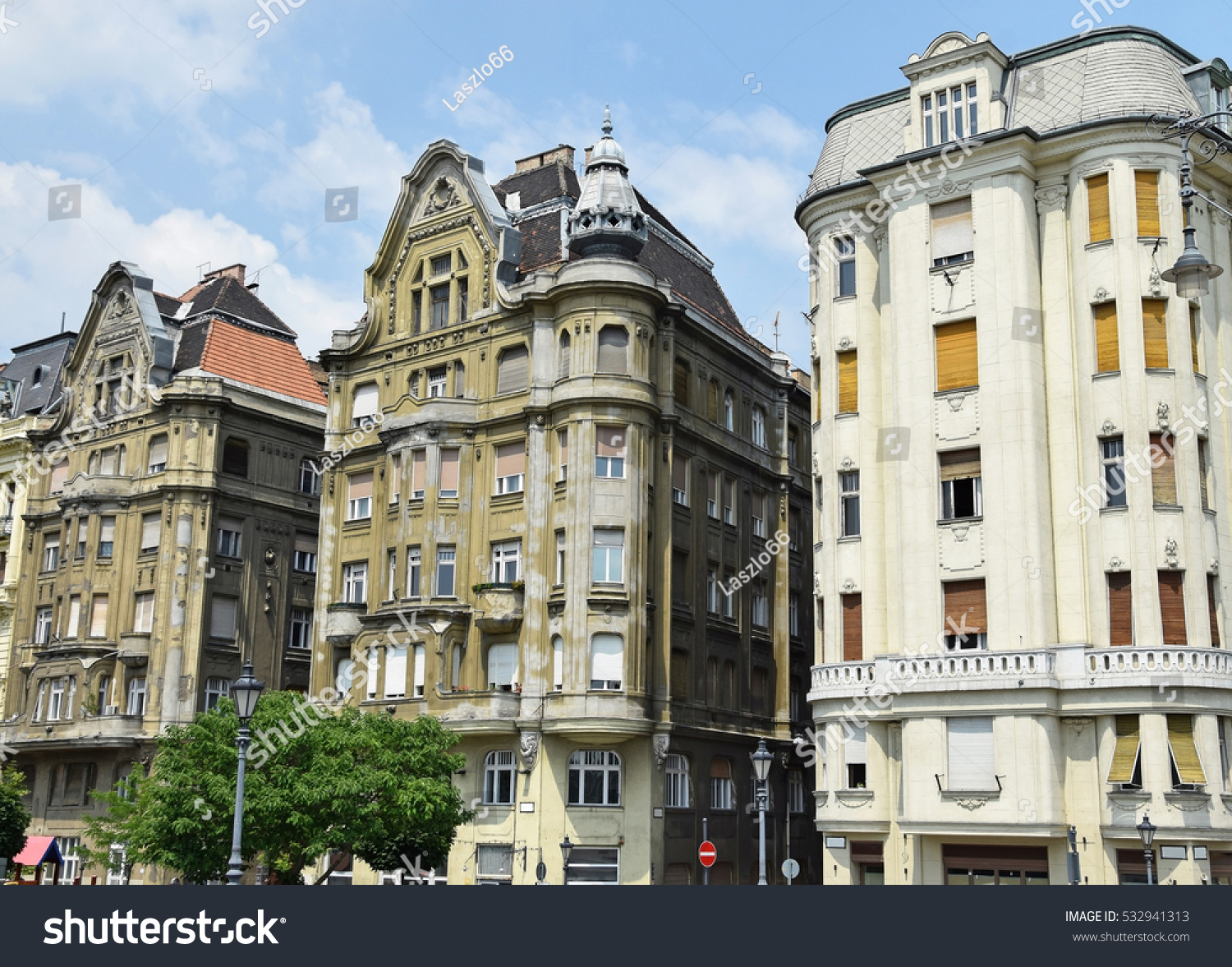 small old apartment building. Old apartment buildings  Budapest Hungary Apartment Buildings Stock Photo 532941313
