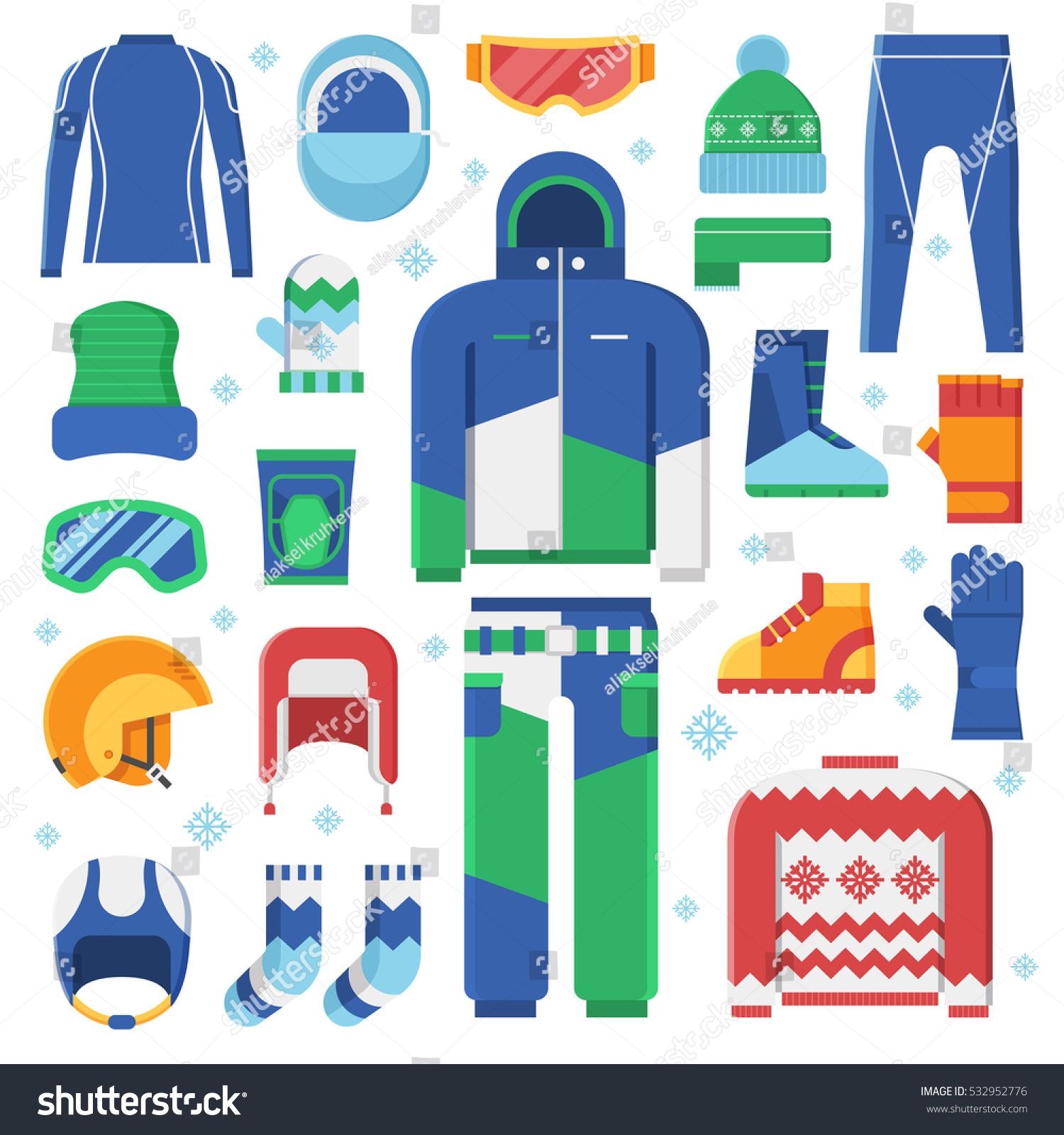 Winter Clothes Accessories Active Lifestyle Snowboard ...