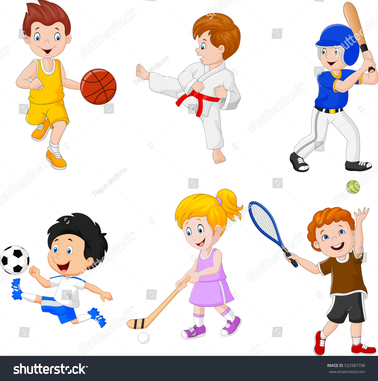 hobbies for kids. kids engaged in different hobbies for s