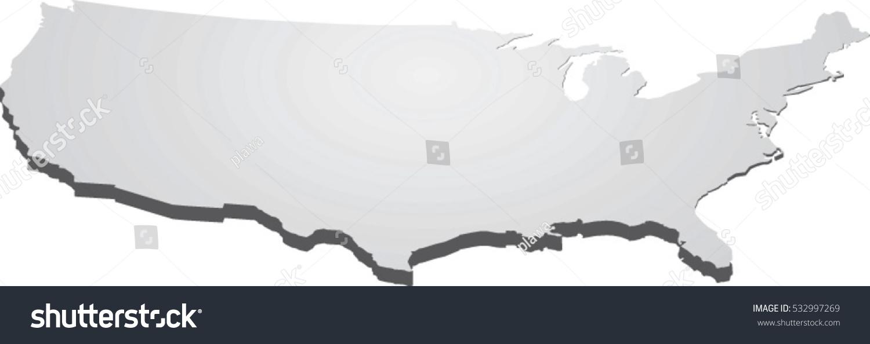 Usa Map Perspective Vector Stock Vector  Shutterstock - Map usa vector