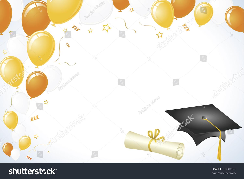 Graduation Vector Orange Yellow Gold Color Stock Vector ...