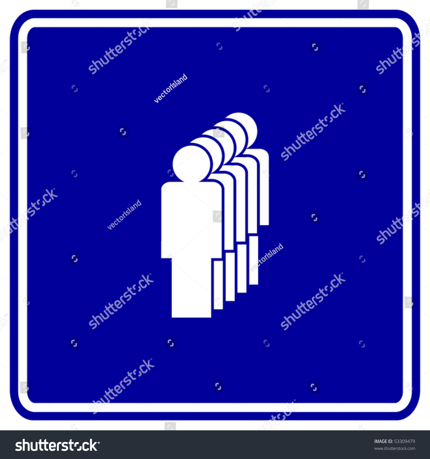 leader first line sign stock vector 53309479 shutterstock leader or first in line sign