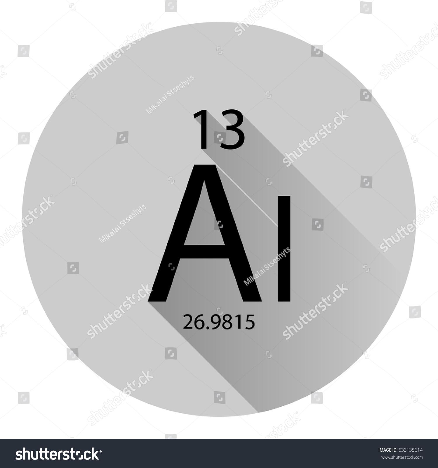 Periodic table element aluminium basic properties stock vector the periodic table element aluminium with the basic properties flat style with long shadow gamestrikefo Gallery