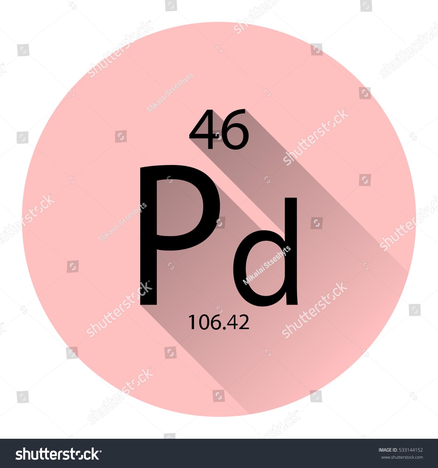 Periodic table element palladium basic properties stock vector the periodic table element palladium with the basic properties flat style with long shadow gamestrikefo Gallery