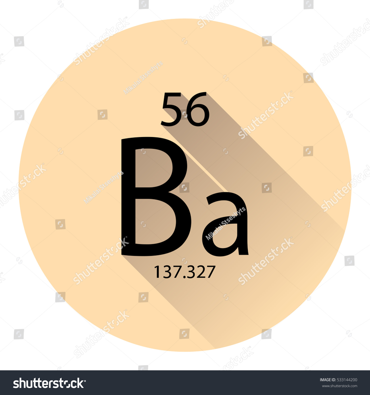 Periodic table element barium basic properties stock vector the periodic table element barium with the basic properties flat style with long shadow gamestrikefo Gallery
