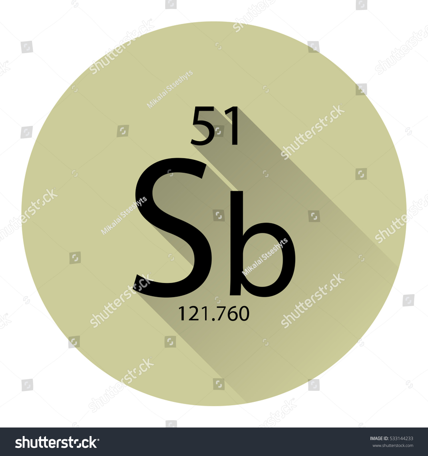 Periodic table element antimony basic properties stock vector the periodic table element antimony with the basic properties flat style with long shadow gamestrikefo Image collections