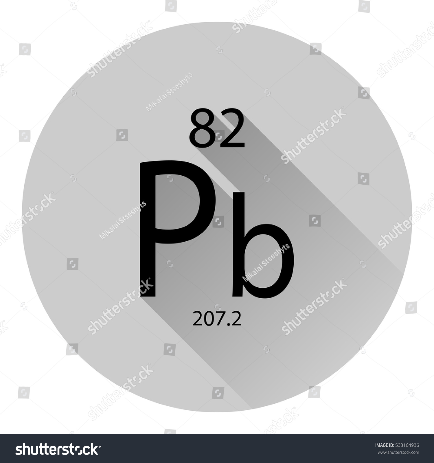 Periodic table element lead basic properties stock vector the periodic table element lead with the basic properties flat style with long shadow gamestrikefo Choice Image
