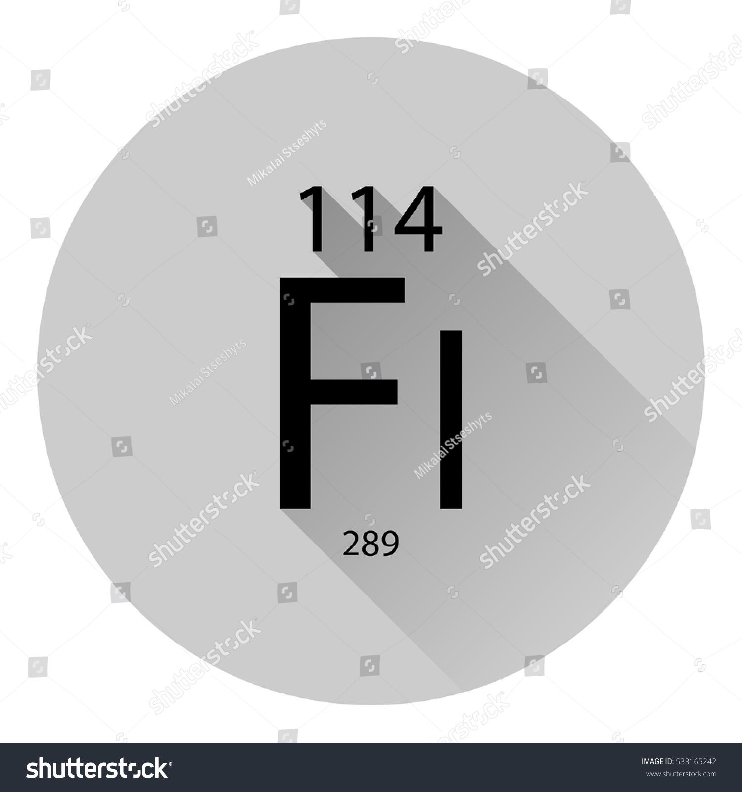 Periodic table element flerovium basic properties stock vector the periodic table element flerovium with the basic properties flat style with long shadow gamestrikefo Gallery