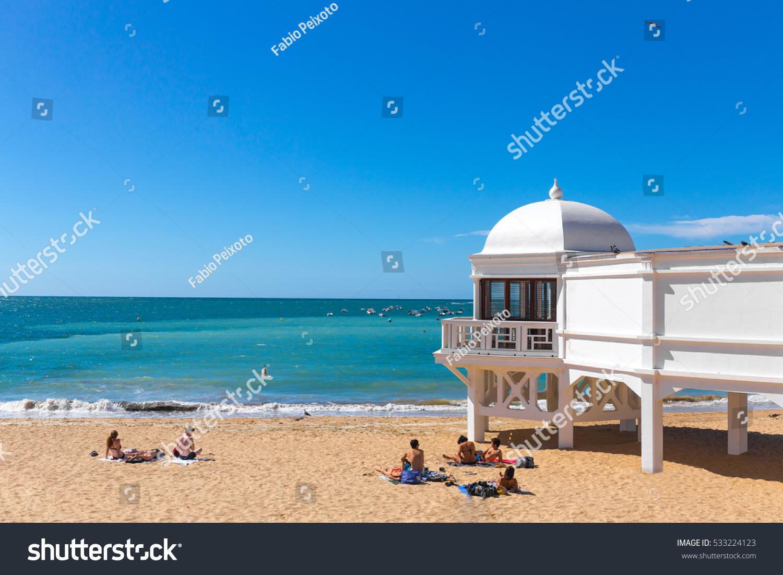 Beautiful Summer Day Beach Cadiz Old Stock Photo 533224123  # Muebles Gayro Cadiz