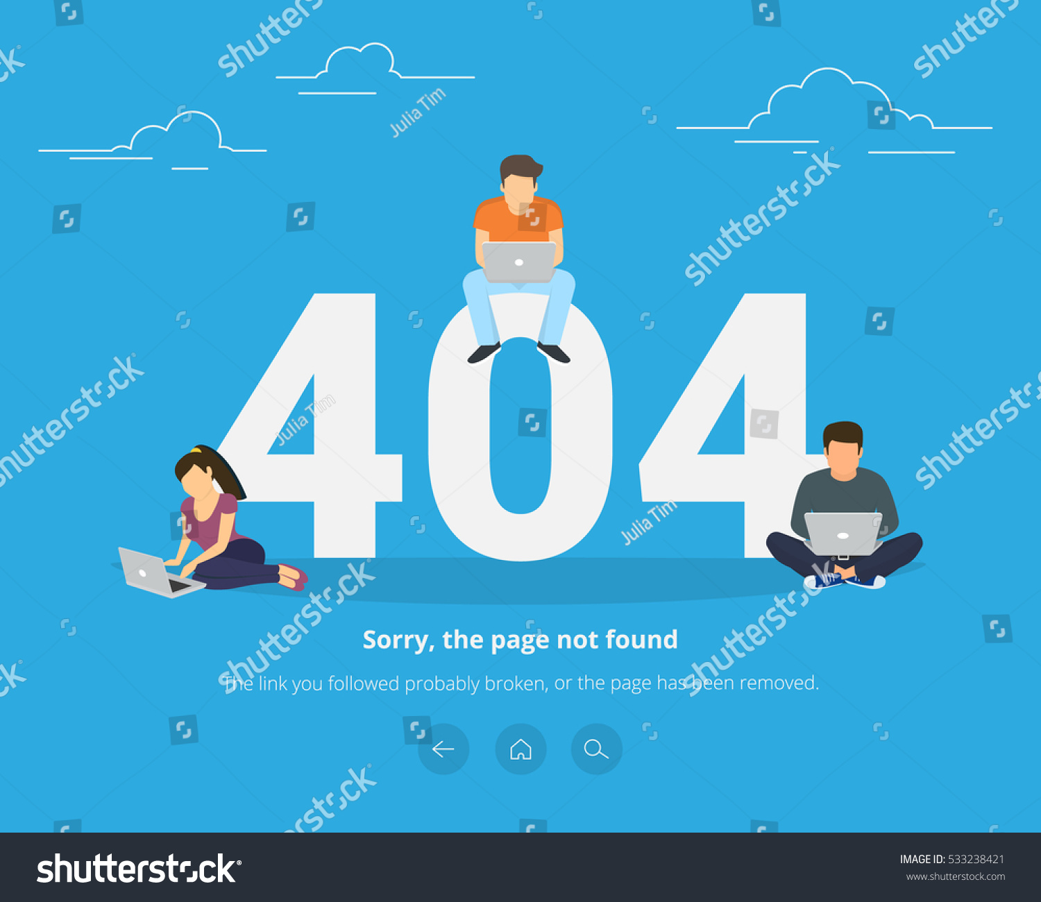 Background image 404 not found - 404 Error Page Not Found Concept Illustration Of People Using Laptops Having Problems With Website