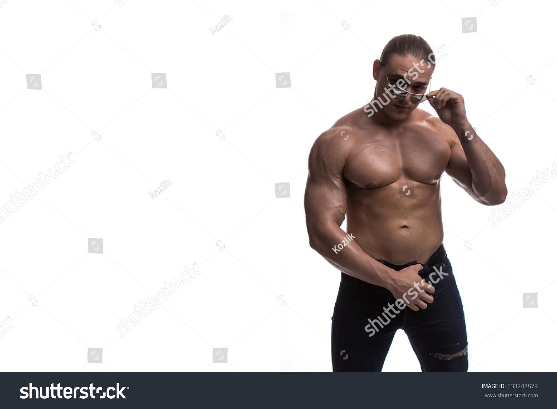 Goli Torso Moški bodybuilder športnik Studio Fotografsko 533248879 - Shutterstock-7204