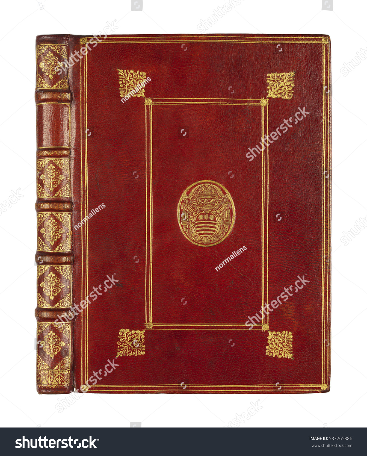 Vintage Book Cover Photo : Old book cover binding stock photo